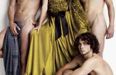 Nude Sidekicks - Carmen Kass Keeps Scantily-Clad 'Wild Things' on Hand for V Magazine