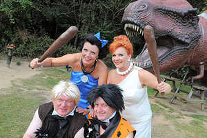 2 Couples Yabba Dabba Do a Double 'Flintstones' Wedding
