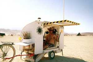 Sustainable Bicycle-Towed Home for 'Burning Man' Project