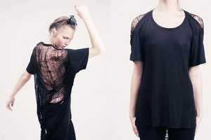 Shredded Cobweb Tee by Obesity & Speed