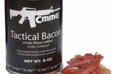 The Tac Bac Tactical Canned Bacon is Perfect for Bunkers