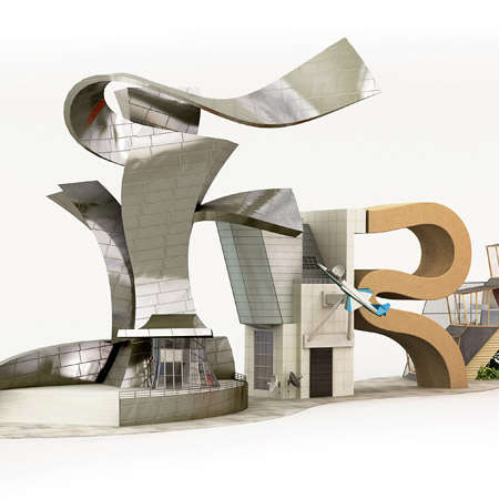 Architectural Typography - Chris Labrooy's Building-Inspired Characters