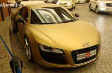 Solid Gold Supercars - Audi R8 Gets the Midas Touch