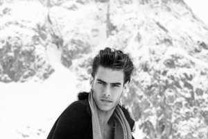 Jon Kortajarena's Snowy Black and White Shoot for VMAN