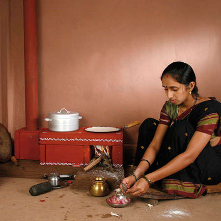 Pint Sized Clay Stoves - The Chulha is Designed for Use in Developing Countries