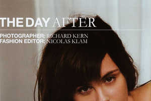 Richard Kern Photographs Trish Goff 'The Day After' for A4 Magazine