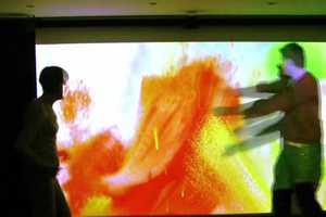 Memo Akten Creates Interactive Wall Mural