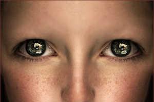 Bizarrely Wide Eyed Photographer by Nina Sundberg