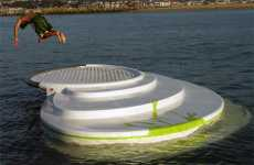 The Zilborrerstea is a Floating Lounger Meets Diving Block