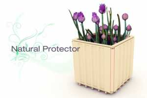 The Natural Protector is an Eco Roof Made of Pots