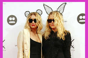The Olsen Twins Step Out in Maison Michel Headbands