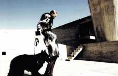 Dog-Walking Editorials - In 'Korperkunst' for Vogue Germany, Toni Garrn Rocks Big Bad Wolf Apparel