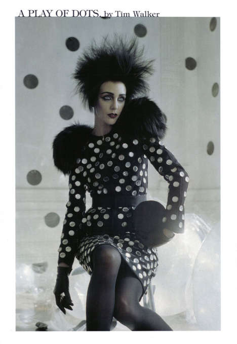 Electrostatic Hairstyles - Tim Walker's 'A Play of Dots' in Vogue Italia is a Polka-Dotted Pictorial