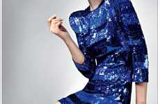 Sequined Dresses & Shoulder Pads - 'Power Cuts' for Elle UK Channels 80s Fashion & Adds Architectura