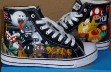 Rachelle Williams Makes Super Mario Bros High-Tops