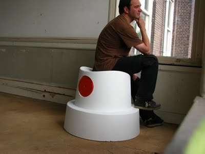 Graffiti-Inspired Furniture - Sander Van Heukelom's Fat Cap Chair