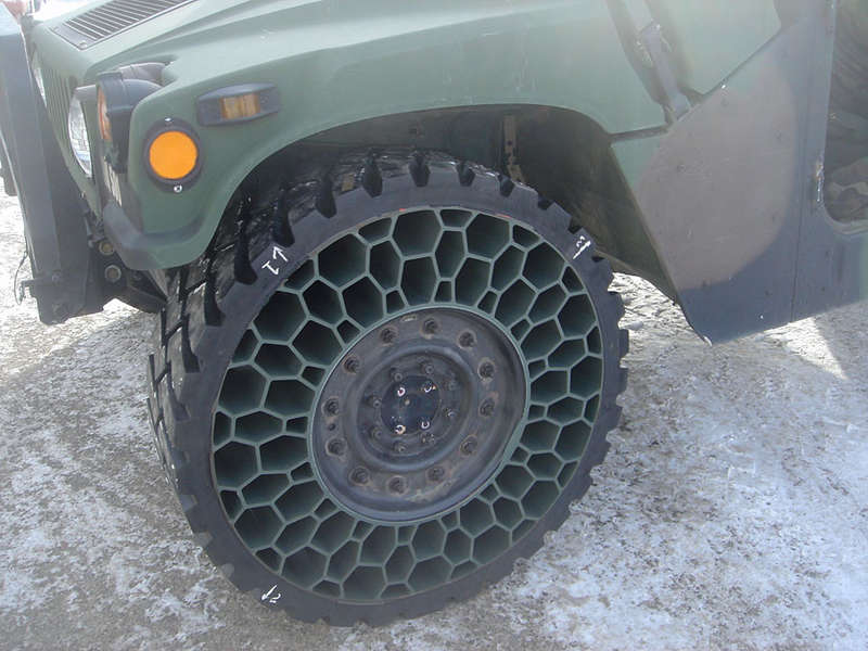 Airless Army Tires
