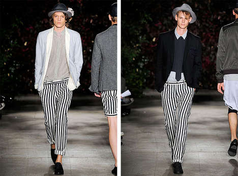 "'Beetlejuice' Pants - Robert Geller's Spring 2010 Menswear Dares You to Scream ""Betelgeuse"" Thrice"