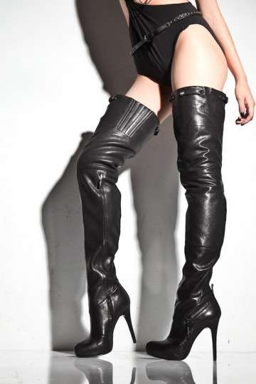 Holster Strap Boots - Report Kane's Over-the-Thigh Boots are an Edgy Wardrobe Addition