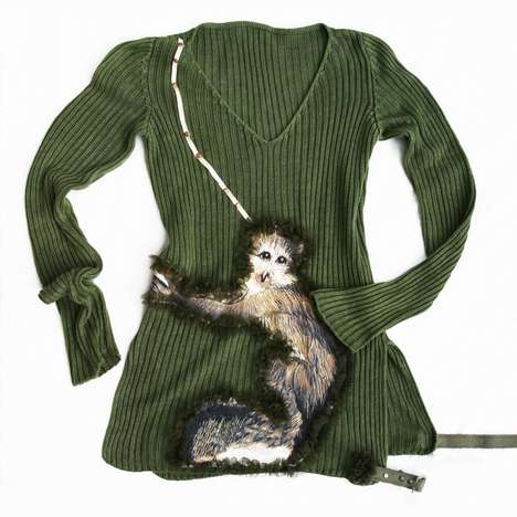 Monkey Sweaters - Attiladesign's Cheeky Applique Top Lets You Hug a Primate