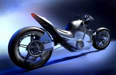 Sleek Sci-Fi Superbikes
