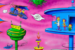Kenny Scharf's 'Barberadise' Features the Jetsons & the Flintstones
