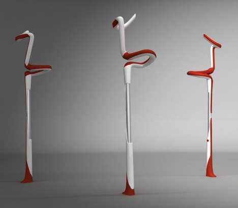 Fiesta Flamingo Crutches - Can Guvenir Will Fly You Into Recovery With His Wild Designs