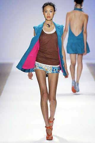Clashtastic Fashion Colors - Nanette Lepore Spring 2010 Show Was One Giant Color Splash