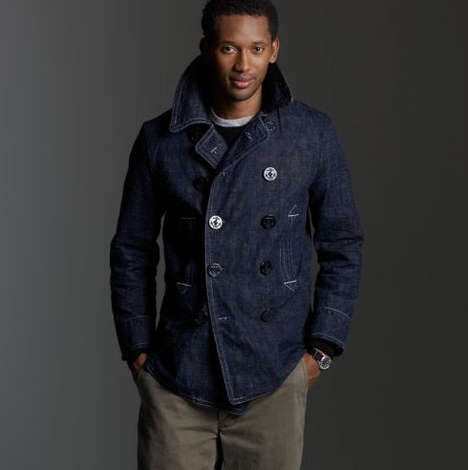Denim Pea Coats