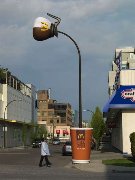 Optical Illusion Promotions - McDonald's Coffee Heats Up the Advertising World