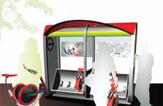 Rent-a-Bike Bus Hubs - Gabriel Wartofsky's Bikeshare Network Puts Foldable E-Bikes at Bus Stops