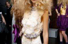Voluminous Plaited Hair - Naeem Khan Spring 2010 Presentation Channels Retro Glamour