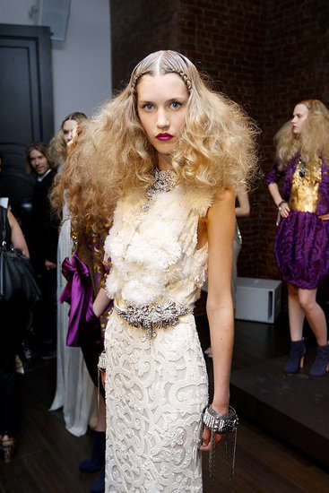 Voluminous Plaited Hair - Naeem Khan Spring Presentation Channels Retro Glamour