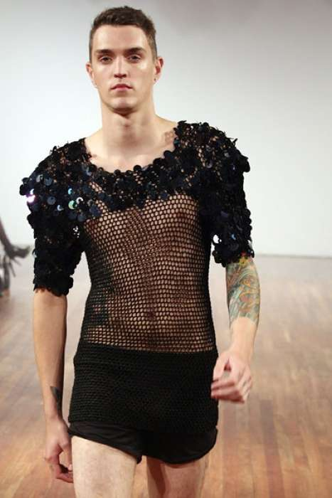 Unisex Mesh & Sequins - Ioannis Dimitrousis' Spring/Summer 2010 Line Has Glitz for Both Genders