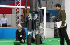 Soccer Robot Fails - Hajime Sakamoto Puts a Ball in Front of a Robot & Hits the Walk Button