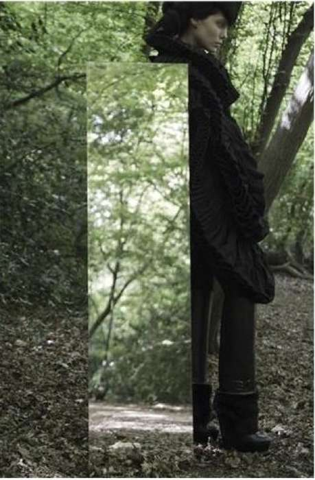 Mirrored Forest Fashiontography - Michal Martychowiec & Claudia Behnke Join Forces for Sublime Mag