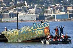 Ivar's Underwater Billboards Surface from the Puget Sound