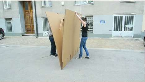 Pop-Up Cardboard Furniture - Liddy Scheffknecht and Armin B. Wagner Channel Childhood Imagination