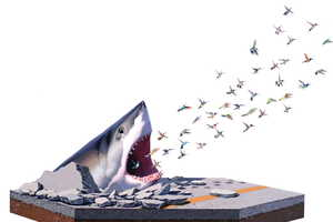 Artist Josh Keyes Merges the Natural World With the Man-Made