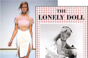 Christopher Kane's Saucy Gingham Mimics Edith, The Lonely Doll