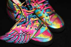Jeremy Scott Does Technicolor Athletic Gear for Adidas