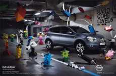 Paper Craft Campaigns - Le Creative Sweatshop Makes You 'Think Outside the Parking Box'