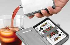 Card-Carrying Flasks - Flask with Playing Cards Combines Hard Liquor and Gambling