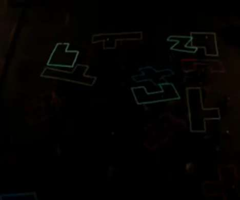 Neon Tetris Skateboarding
