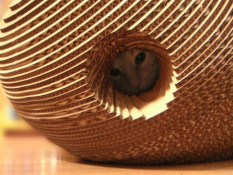 Multifunctional Cat Cocoons - Purrfect Cardboard Cat Shelter Doubles as a Scratching Station