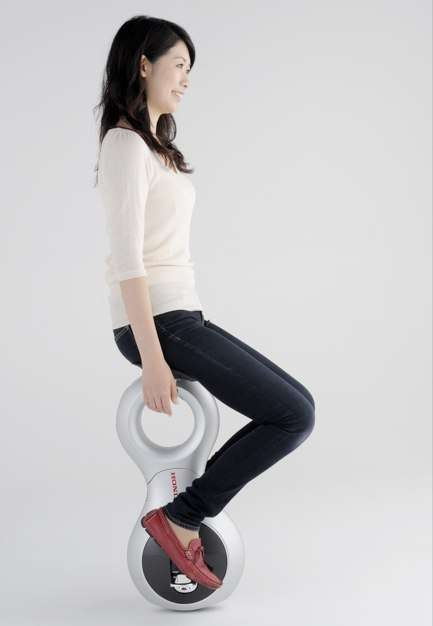 Motorized Unicycles - The Honda U3-X Unicycle Is a Sit-down Segway