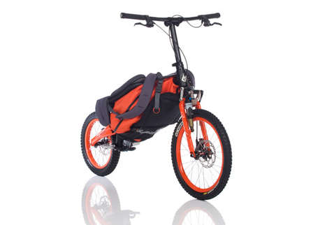 Folding Portable Bicycles - The Bergmoench Backpack Bike is Made for the Mountains