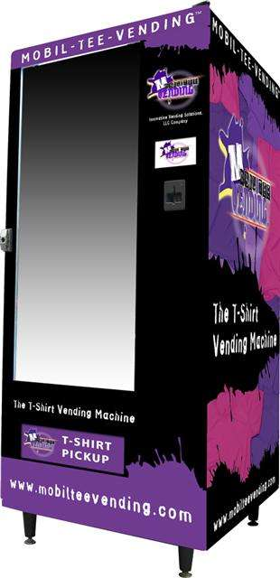 Vending Machine Boutiques - Mobil-Tee-Vending May be the Next Clothing Retail Channel
