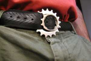 Stylish Bike Tire Belt Made from a Salvaged Cruiser