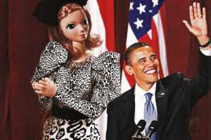 Barbie Joins Obama & Bruni for 'First Lady Chic' in Harper's Bazaar